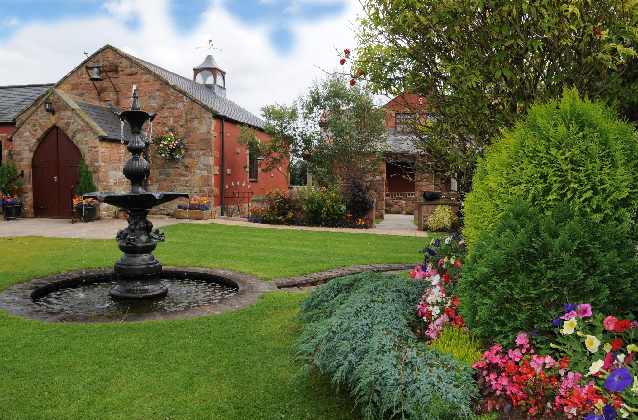 Stunning Gardens at The Mill Forge Hotel near Gretna Green