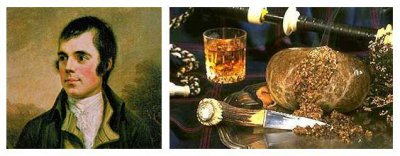 25 January, Robert Burns Day or Burns Night (Burns Nicht)
